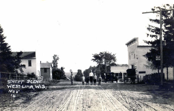 Street scene, West Lima, 1916. Thanks to Dennis Wilson for these photos!
